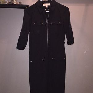 Black Micheal Kors Zip up Dress